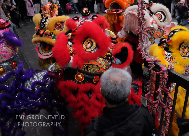 Stumbled upon some Chinese New Year celebrations in Chinatown. These lions put on a wild show and there were thousands of firecrackers going off. Noisy and crazy - just the way I like it.
