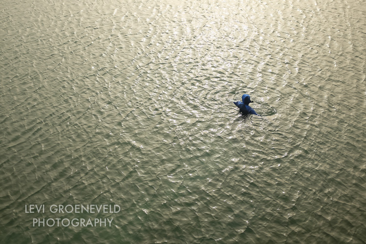Man swimming in Dinard