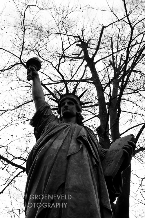 One of three Statue of Liberties