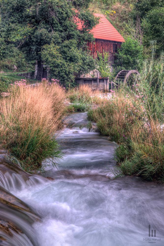 Mill at Katici Waterfall