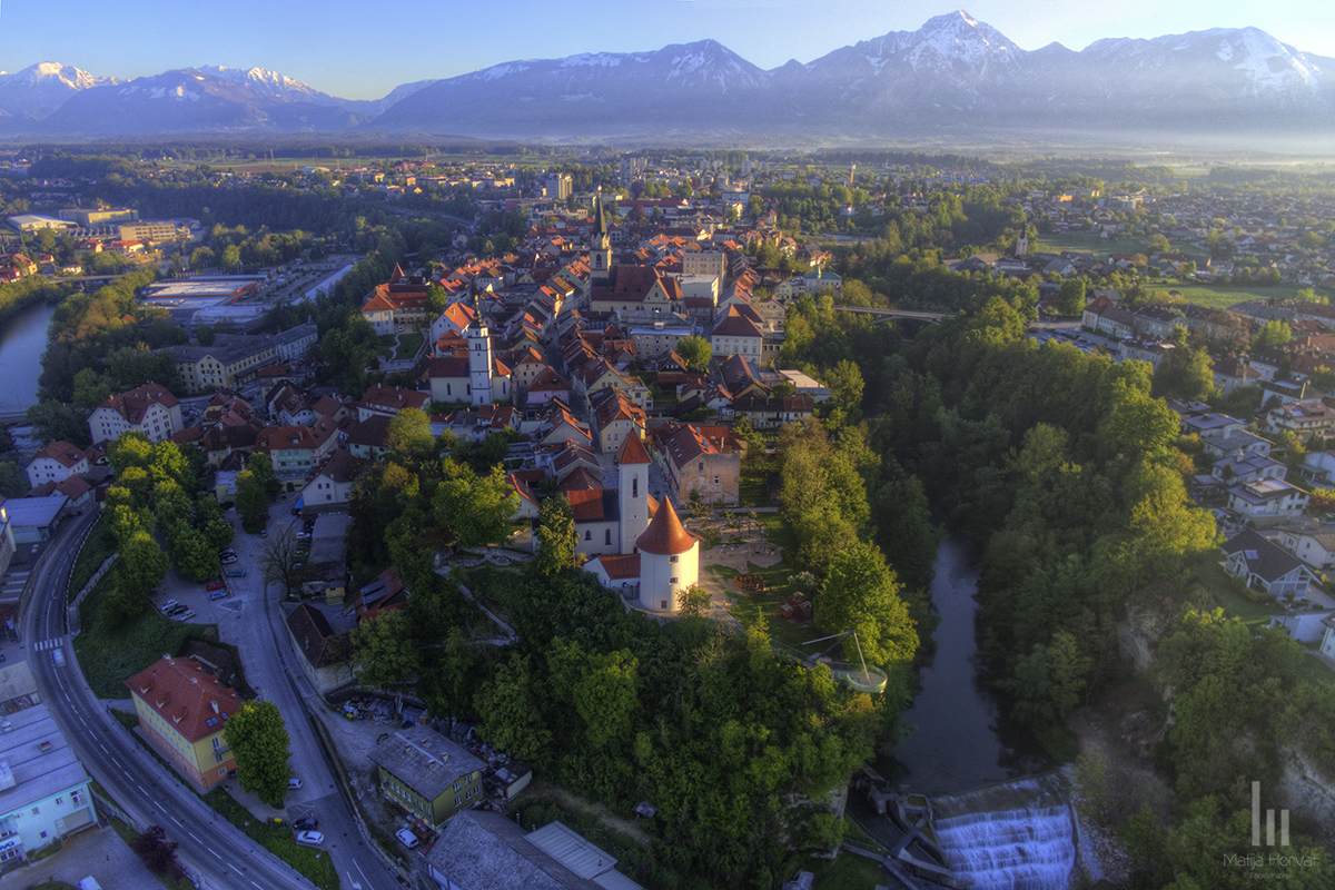 Kranj is situated between the rivers Sava and Kokra