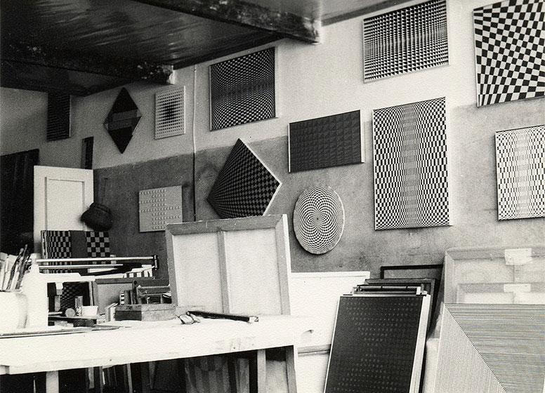 Luiz Sacilotto's studio