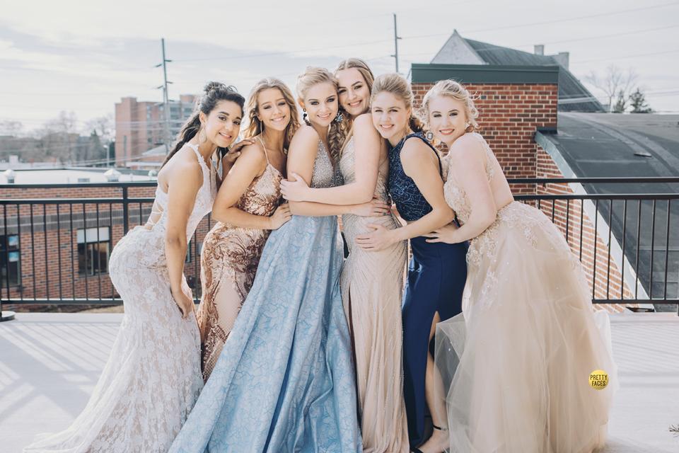 Pretty Team 20 featuring prom gowns from J & B Bridal. Photo shoot location @ Grant Street Loft