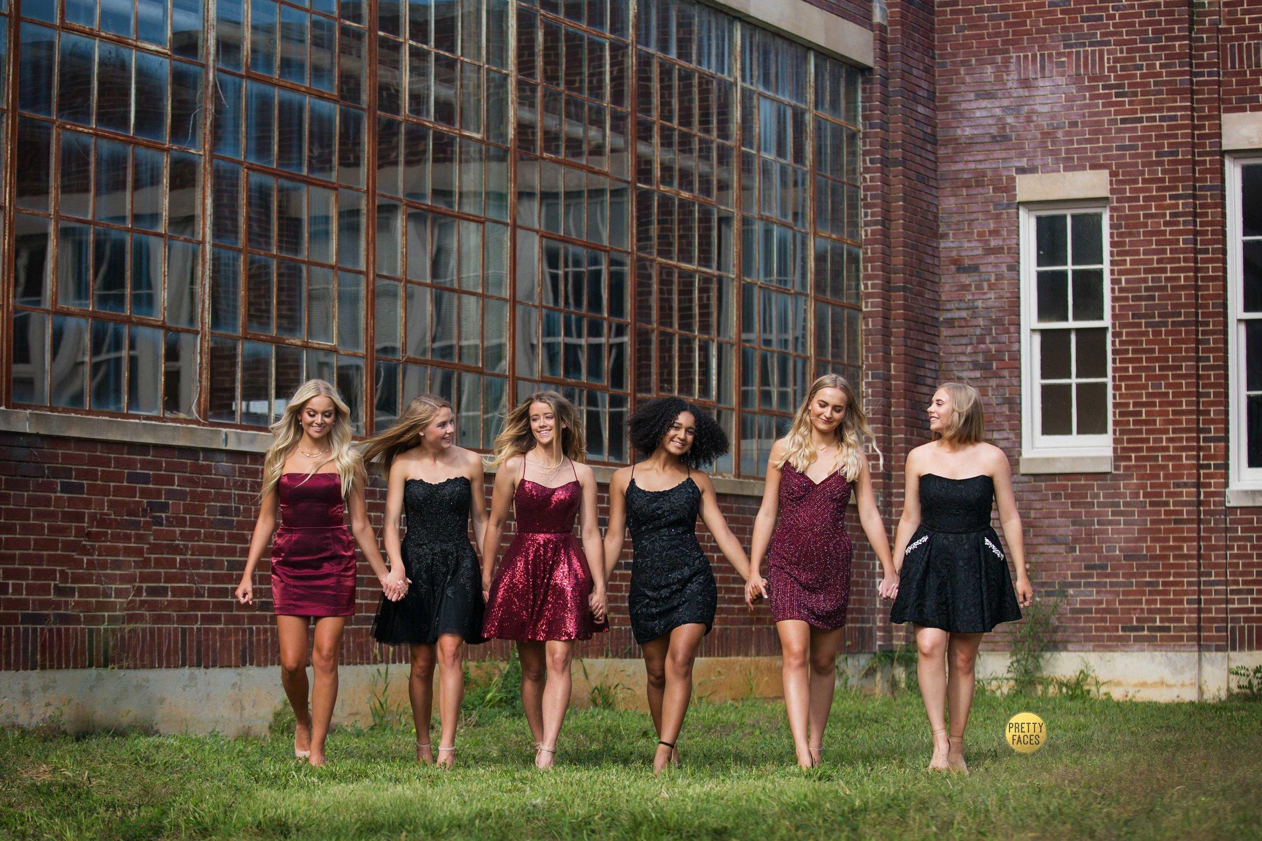 Pretty Team 20's Homecoming Photo Shoot, featuring Sherri Hill dresses from J & B Bridal