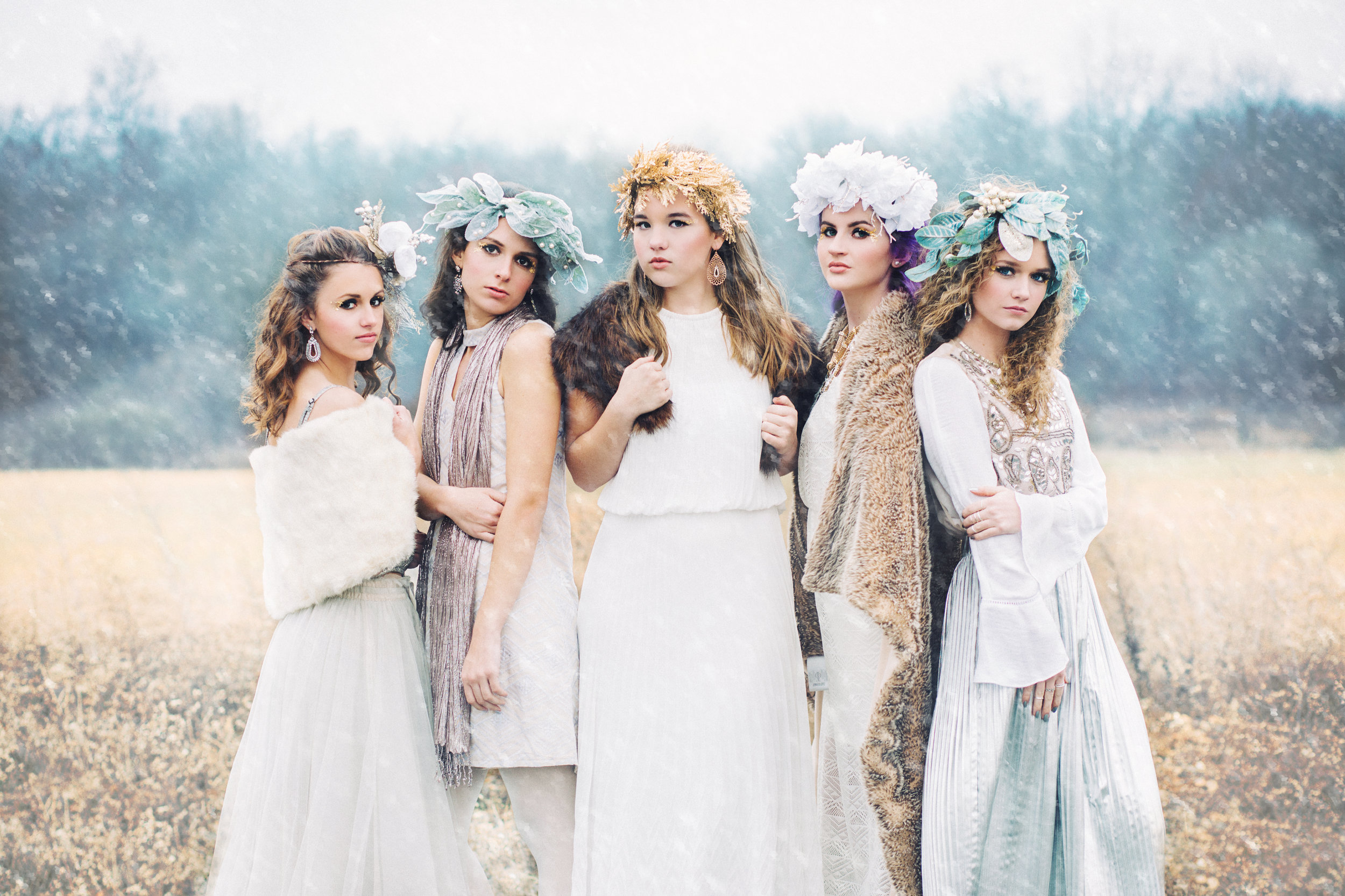 Senior Model Team 2018 during our Snow Queen Photo Shoot