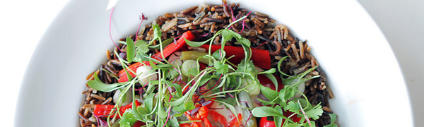 Green Beans, Red Peppers and Wild Rice by Salad Pride