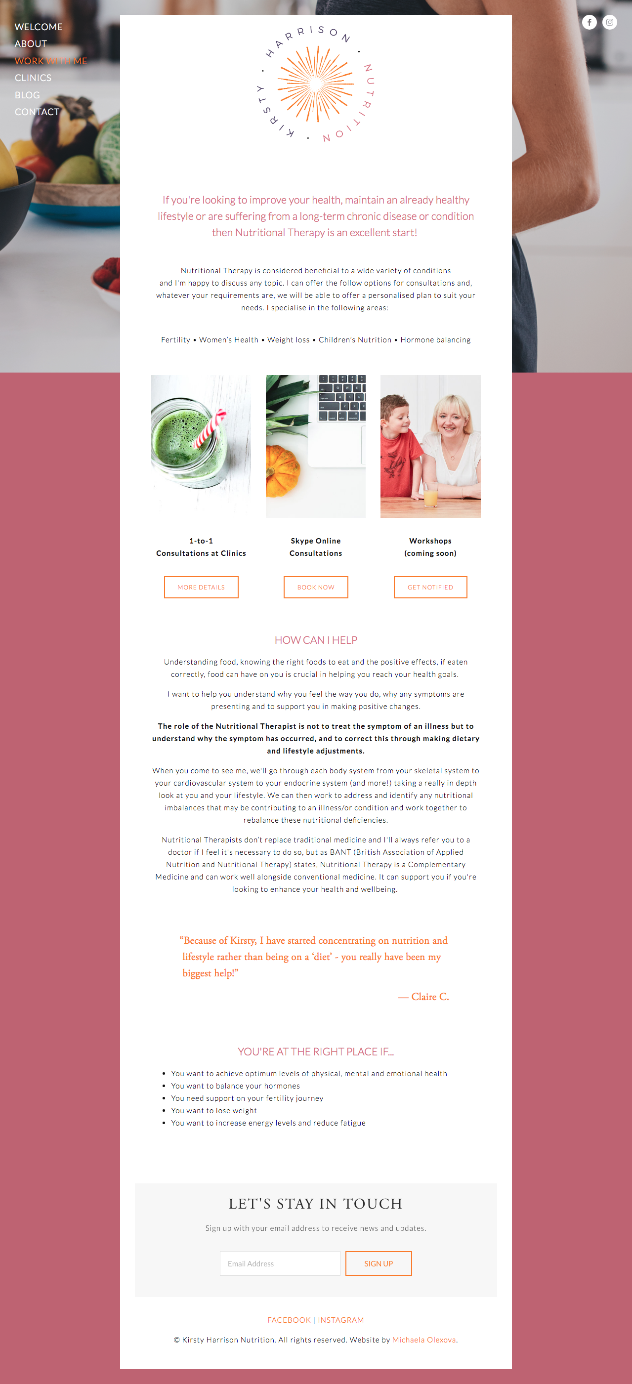 Kirsty Harrison Website Design