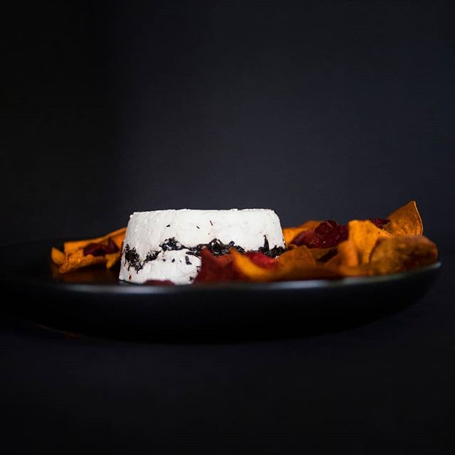 We love this spooky combo of our chevre noir and sweet potato chips. Try it for a snack! If you dare... 👻 #HappyHalloween!