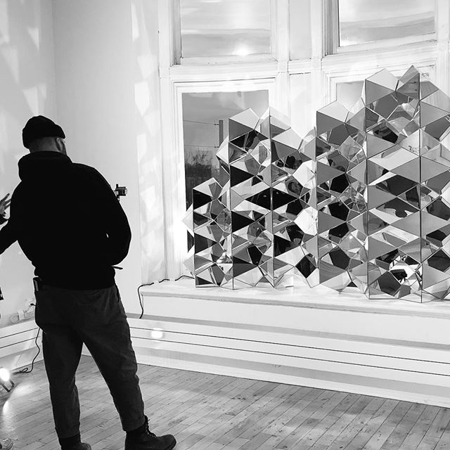 👀 ⠀ 'Connect' #beyondthesurface2019, Studio 207 @gladstonehotel⠀ ⠀ .⠀ ⠀ #azuremagazine #torontolife #dlloves19 #blogto #gladstonehotel #torontoart #torontodesigner #design #architecture #art #sacredgeometry #geometry #fractalgeometry #parametricarchitecture #digitalfabrication #mirrorart #torontoartist #nofilter #designIRL #toprepostme @all_desiign