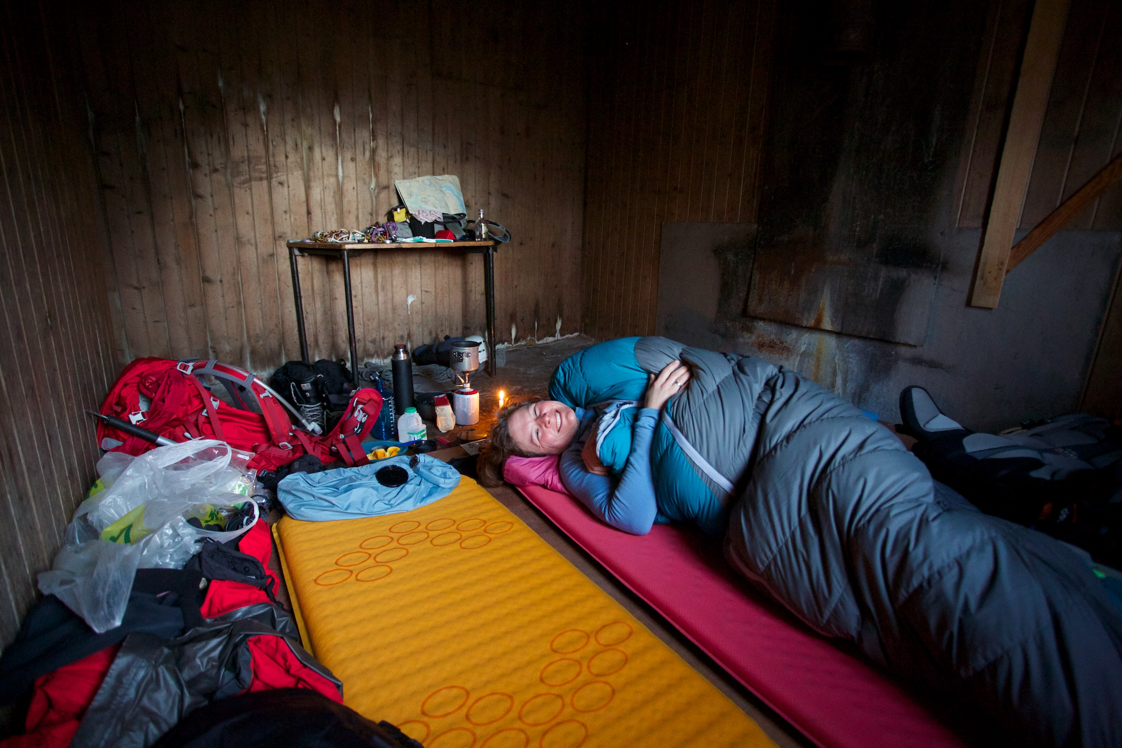 We bagsied a private room at the bothy. Overnight temperature was about 3 °C