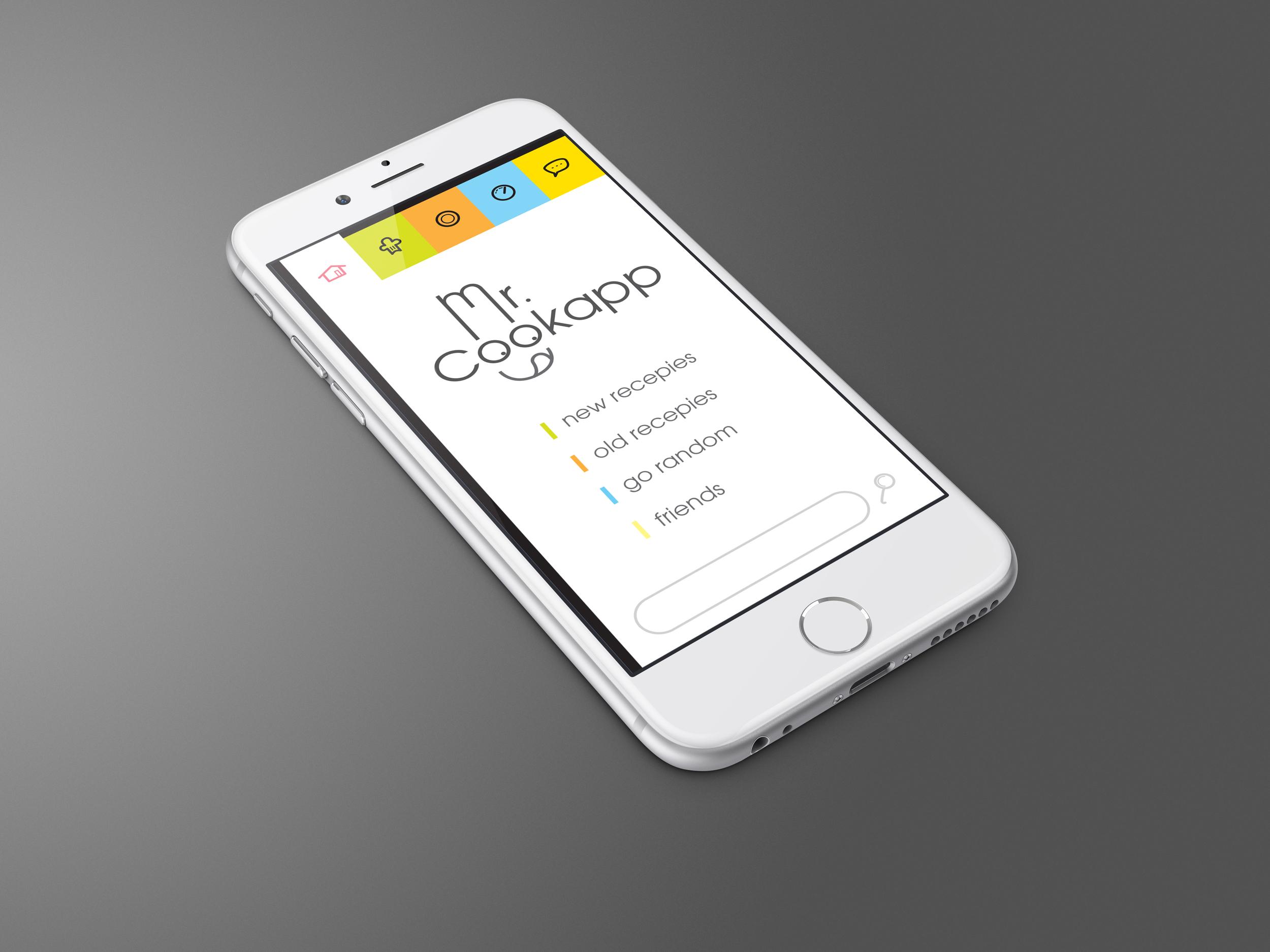 A spec idea for an hands free recipes app