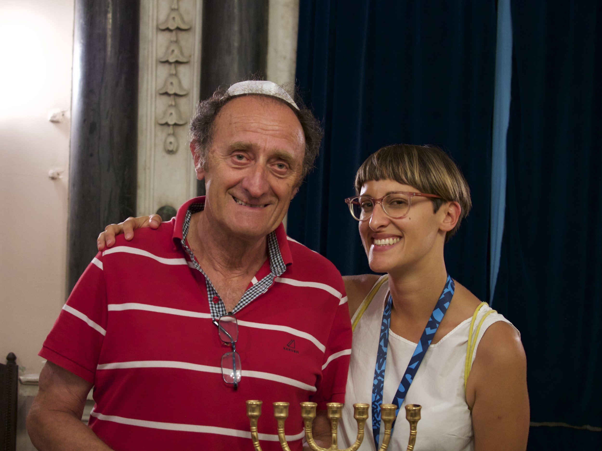 My dad and I at the Split synagogue