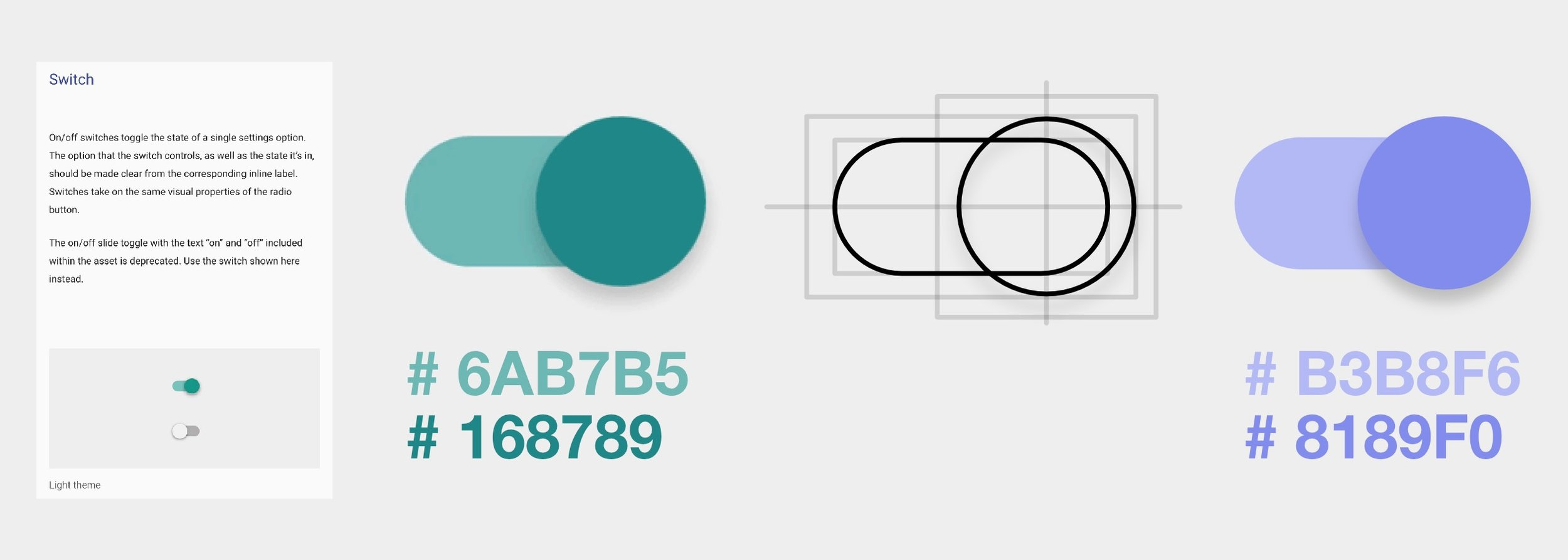 Rebuilding the Google Material Design toggle switch.