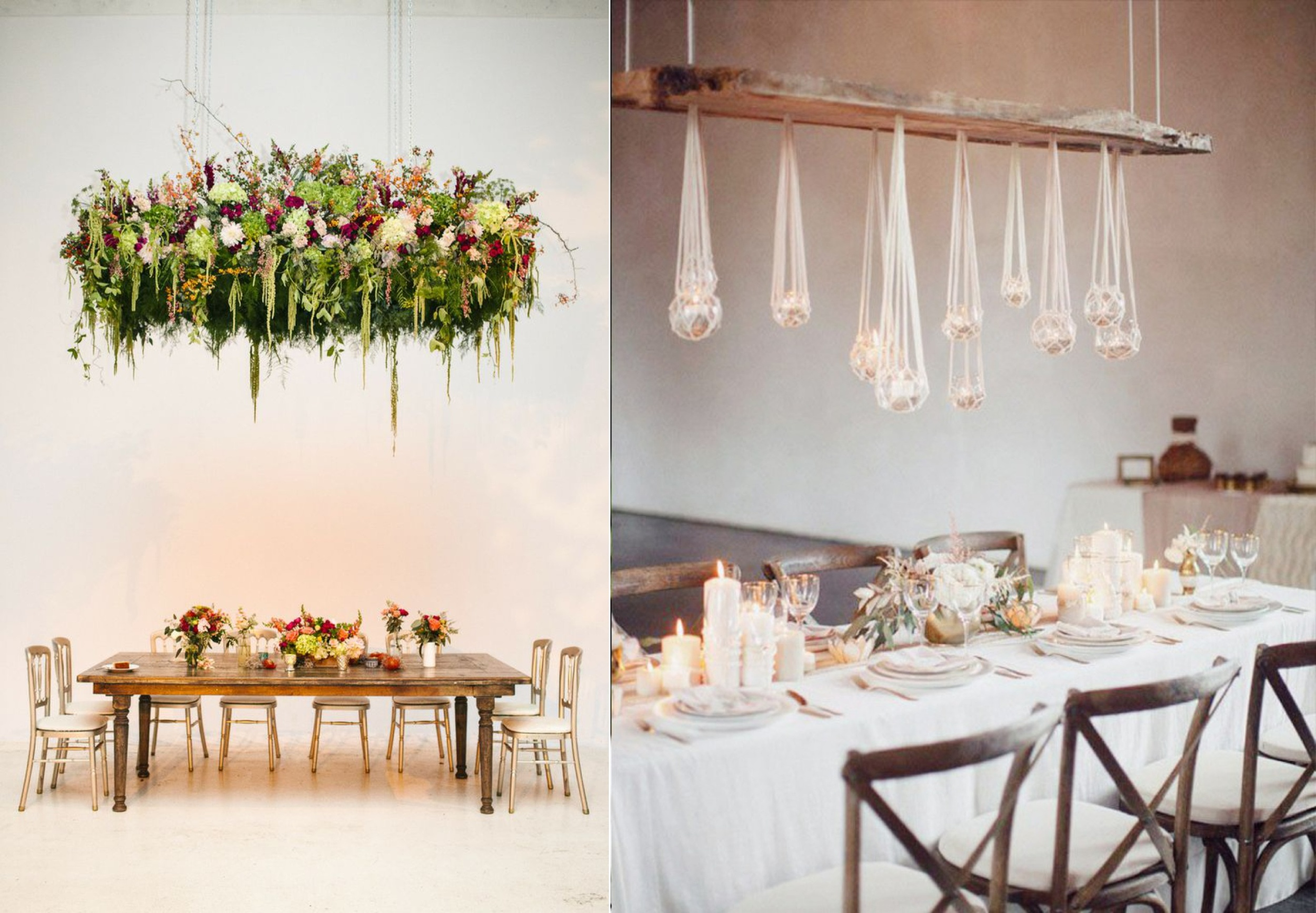 Left:  Becca Heuer Photography  Right:  Love Is A Big Deal (see more from this wedding  here )