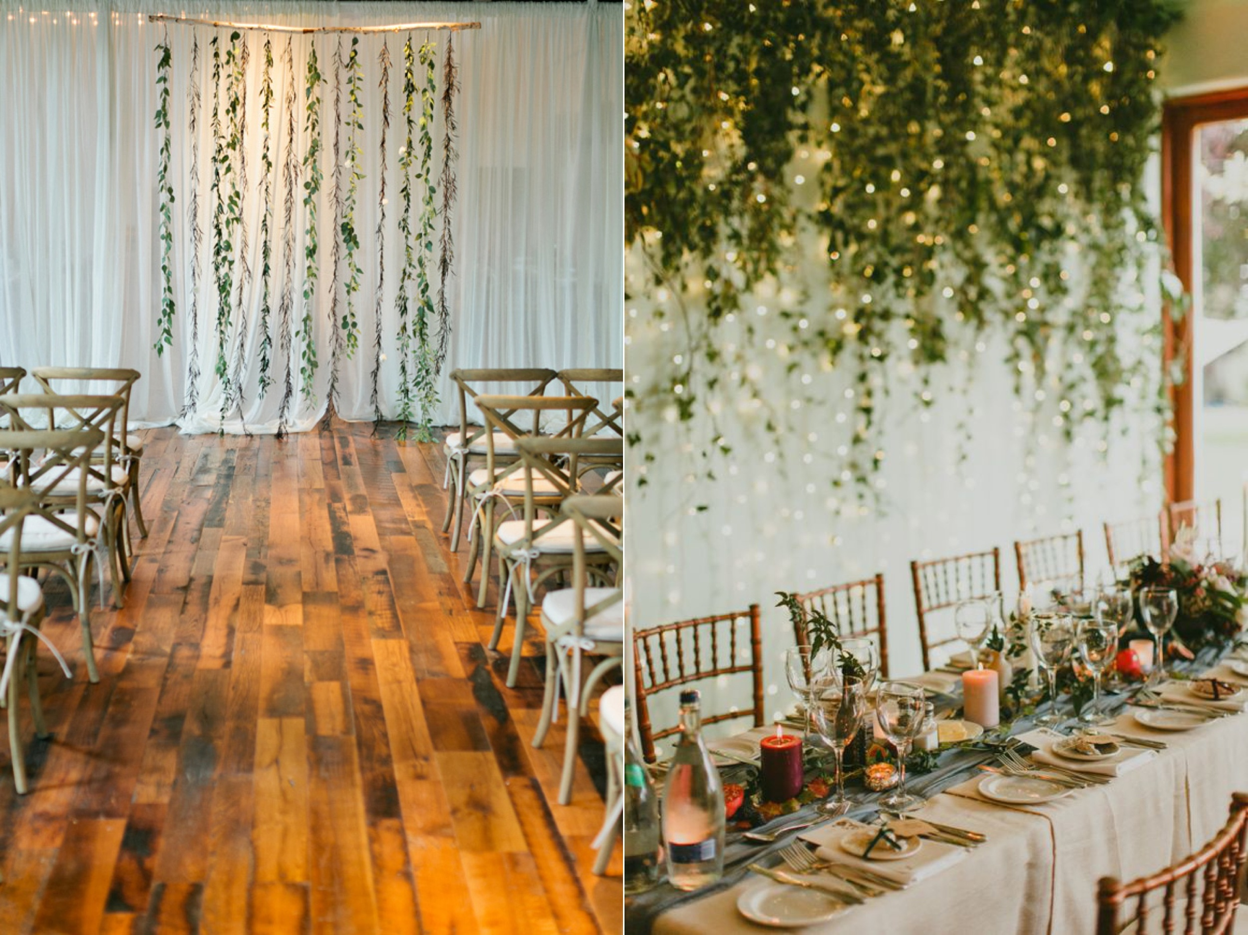 Left:  Free People  Right: Paula Ohara (see more from this wedding  here )