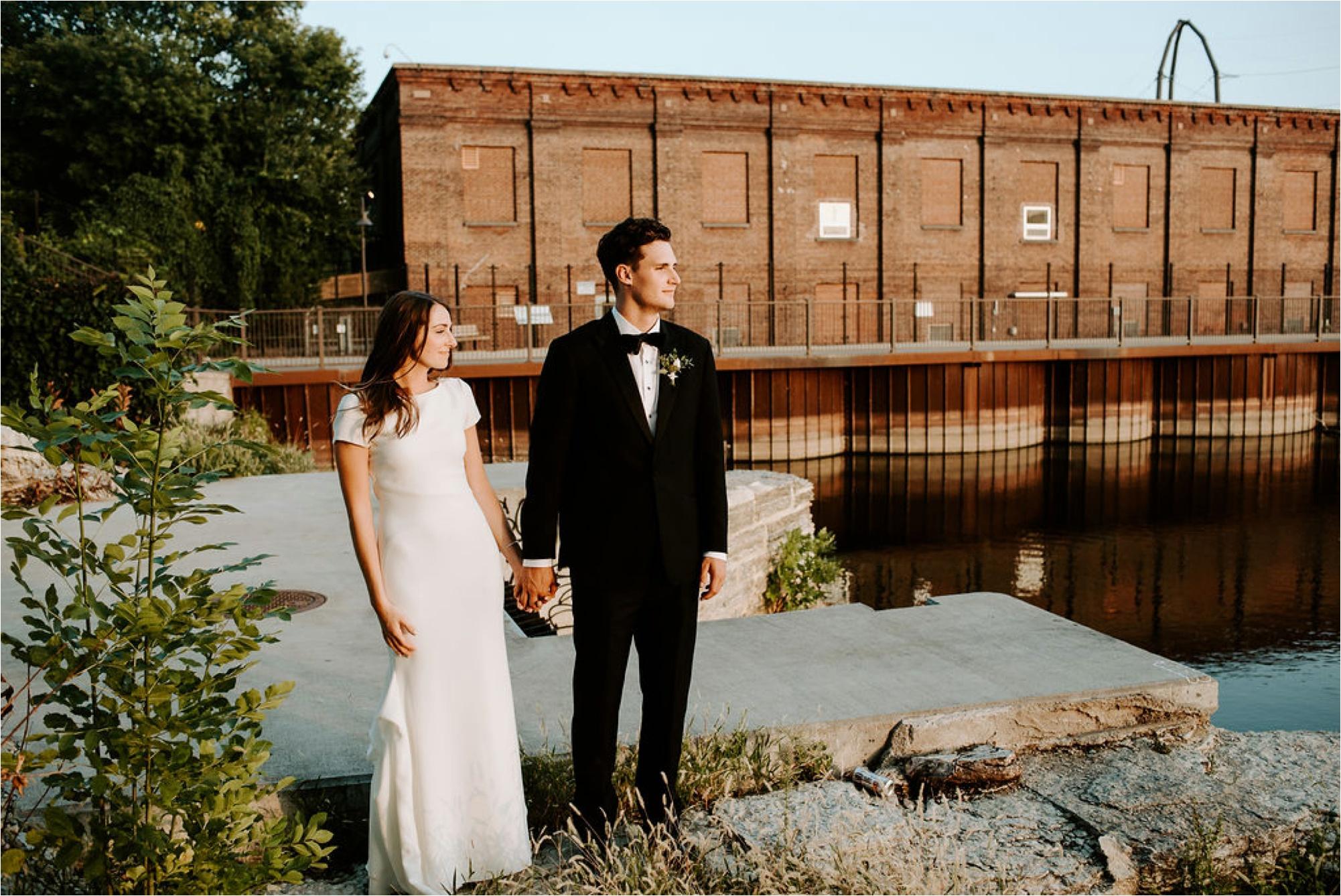st anthony main minneapolis wedding photos bride and groom