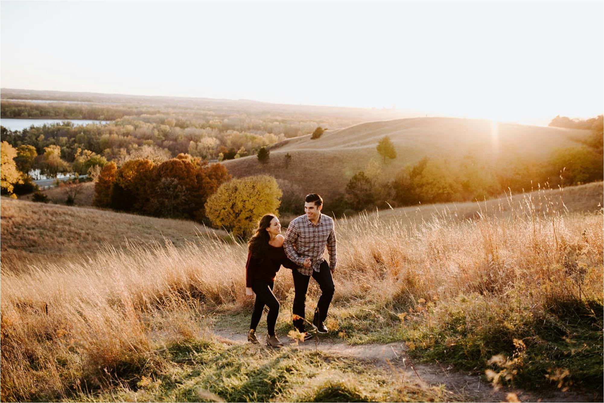 Eden Prarie Bluffs Fall Engagement Session