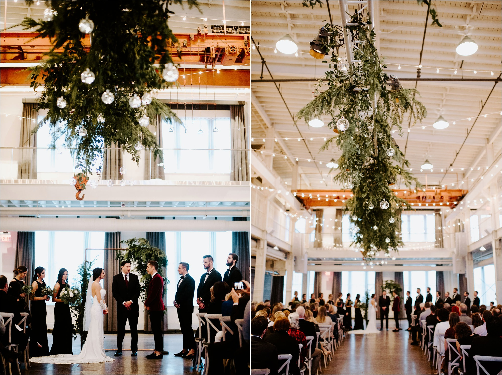 machine shop minneapolis december winter wedding laine palm designs