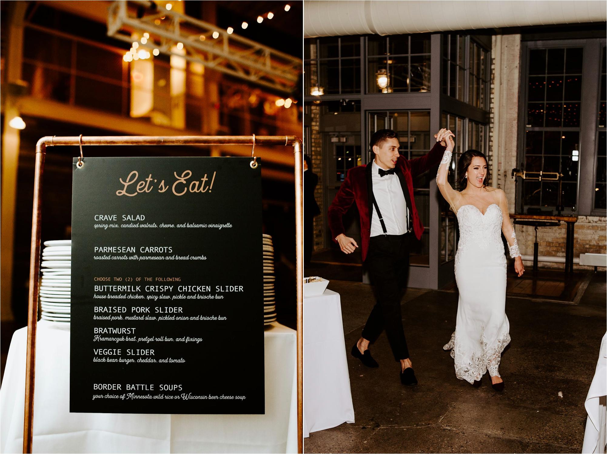 machine shop minneapolis december winter wedding menu