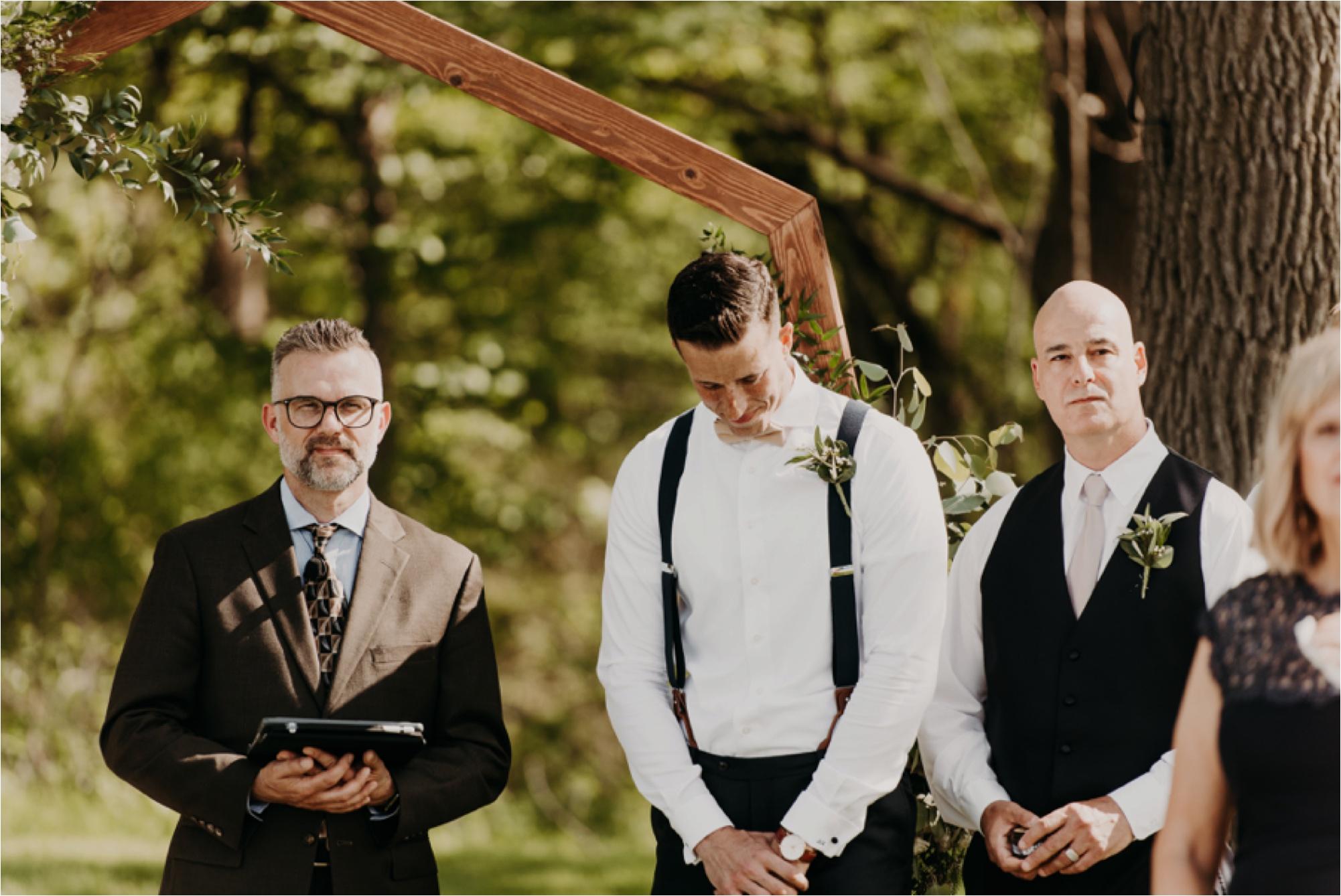 lake geneva wisconsin wedding photographer grooms reaction