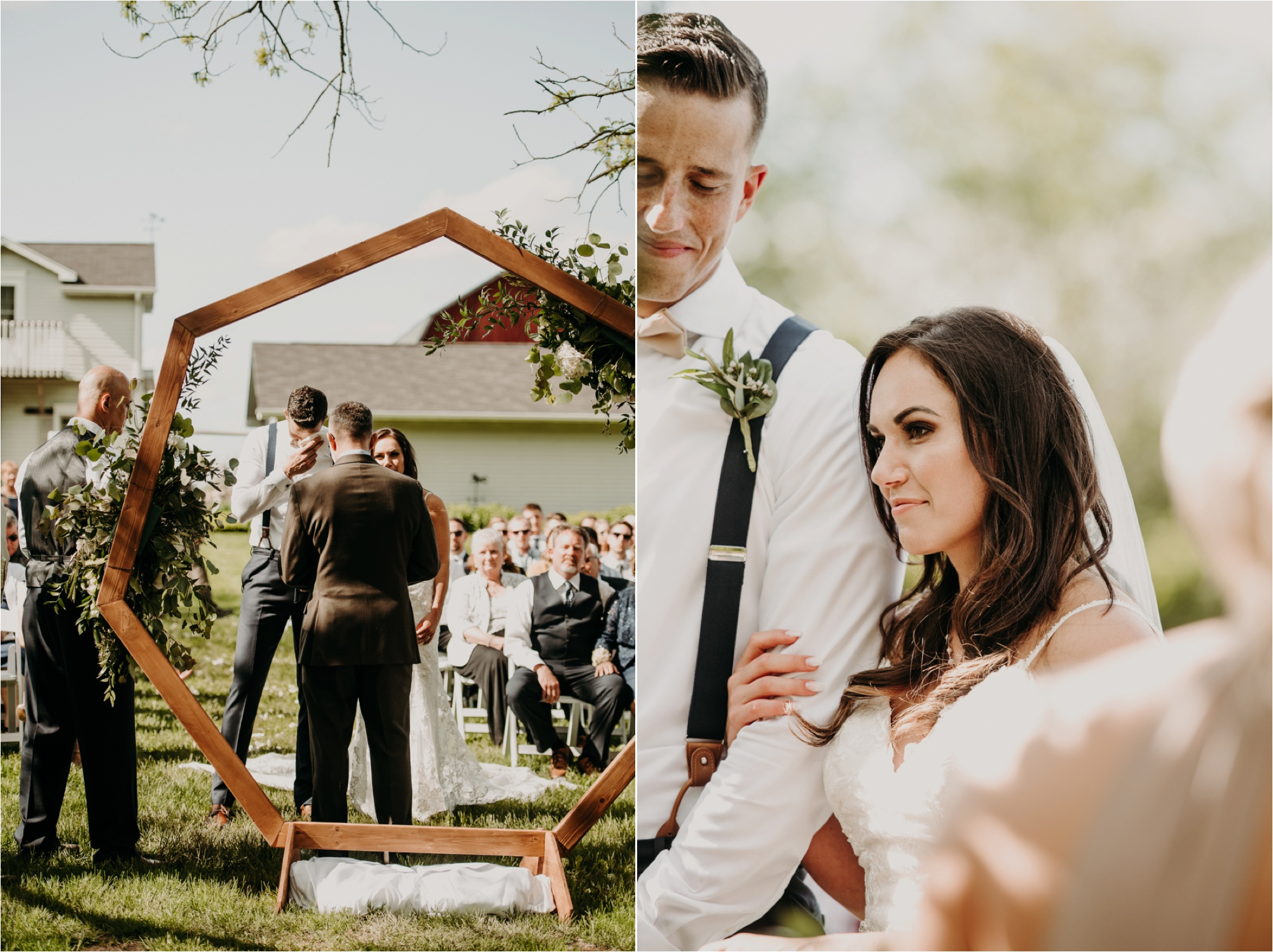 outdoor wisconsin wedding ceremony lake geneva