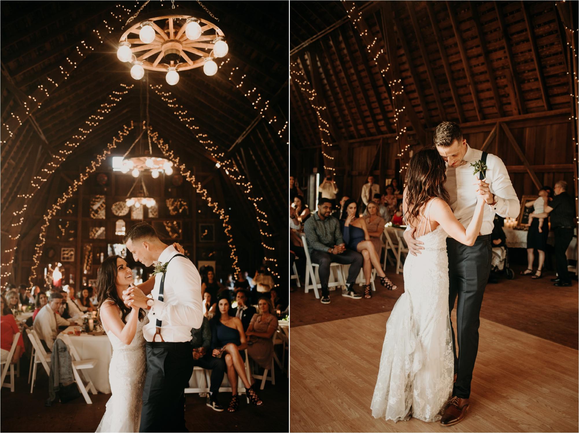 lake geneva wisconsin first dance barn photographer