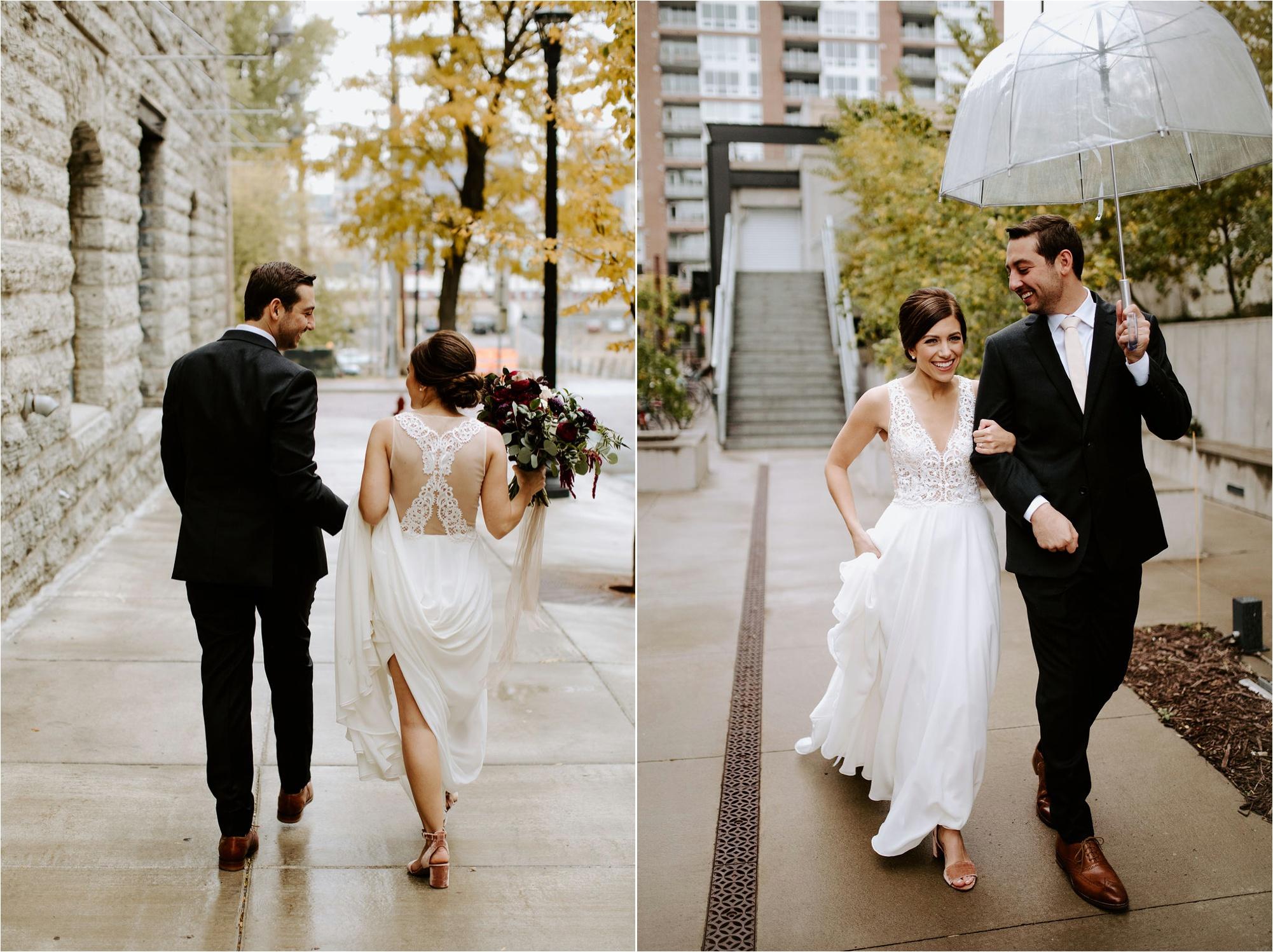fall wedding machine shop minneapolis wedding bride and groom st anthony main