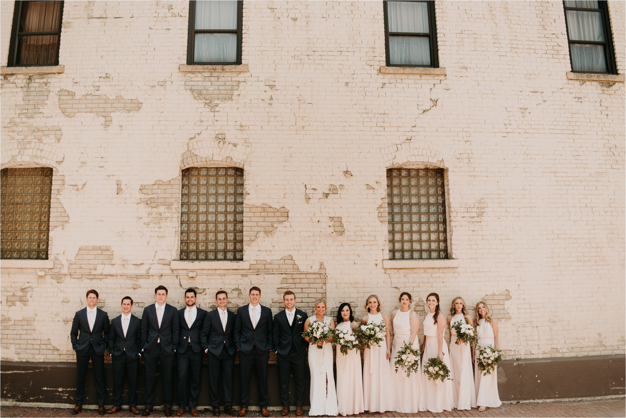 north loop minneapolis minnesota bridal party wedding party photos