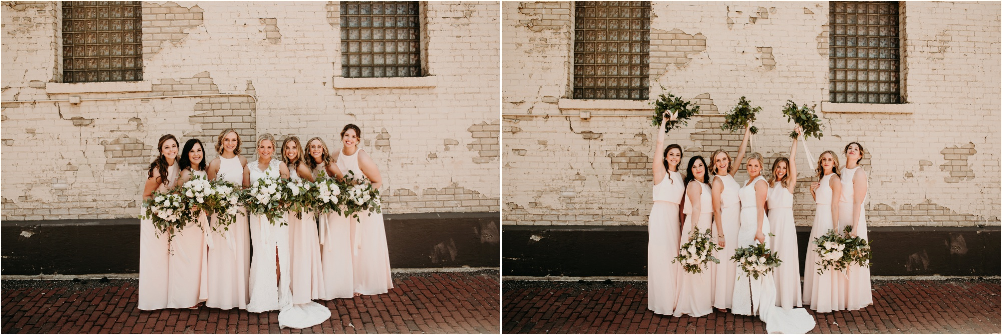 north loop minneapolis hewing bridal party wedding photos