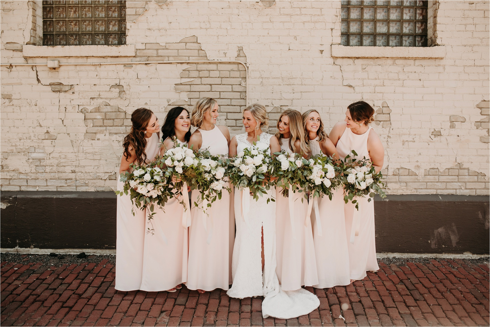 north loop minneapolis minnesota bridal party wedding party photos photographer