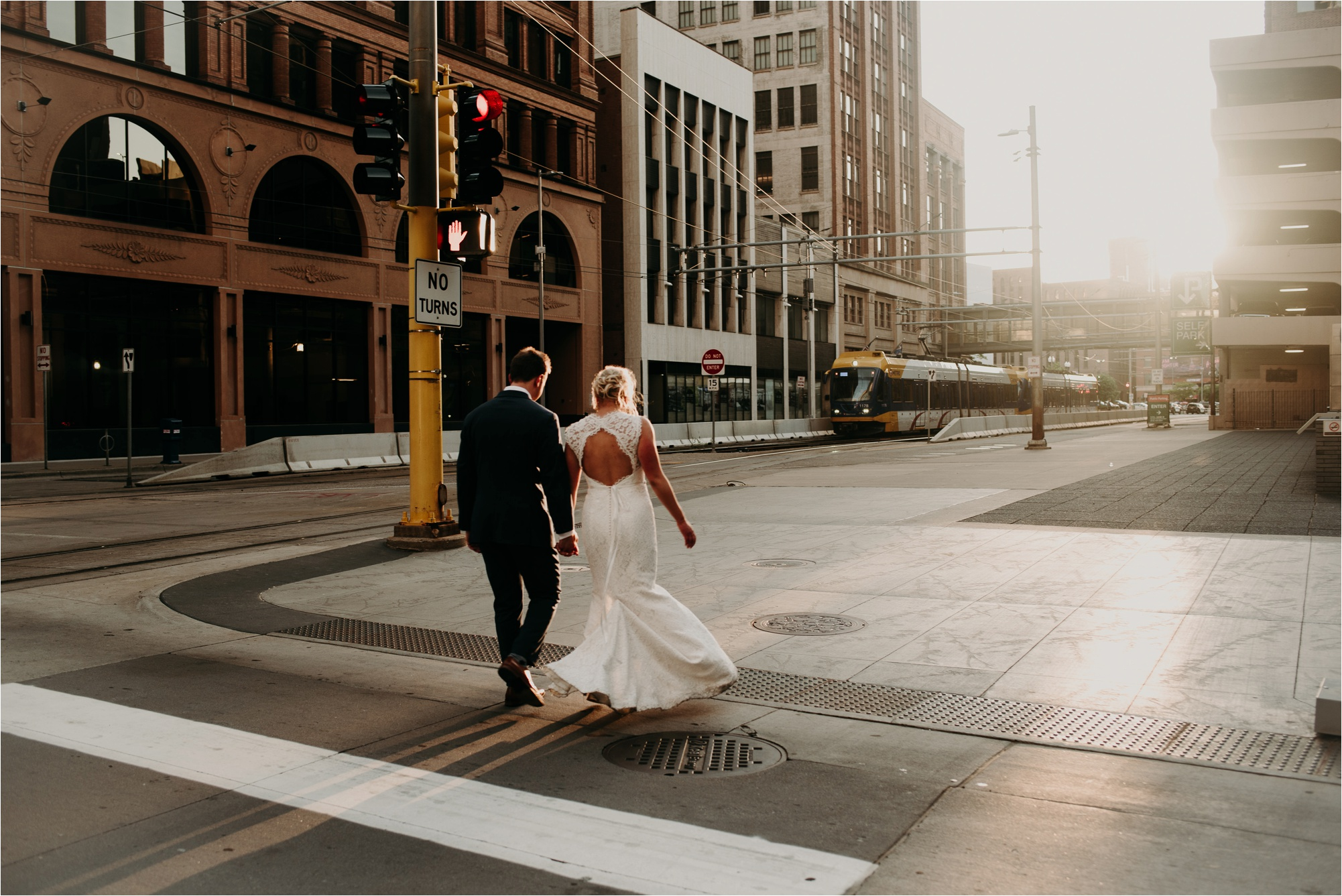 downtown minneapolis nicollet bride and groom wedding photography photos