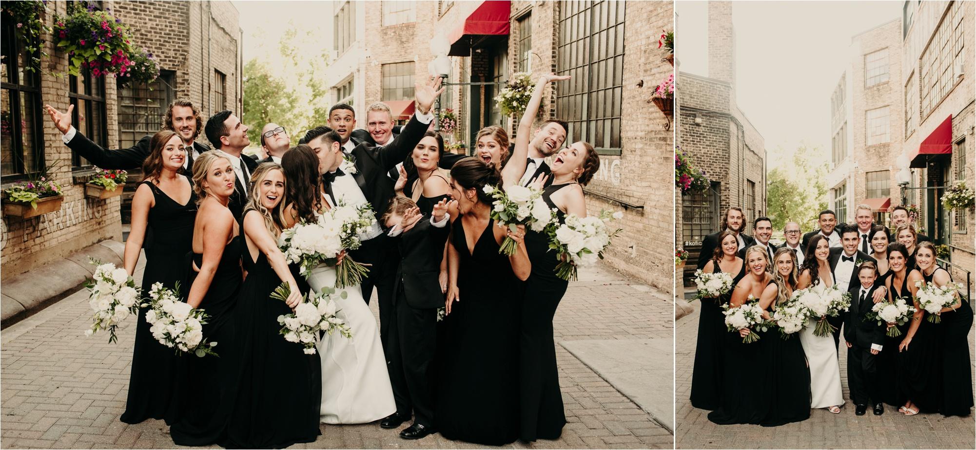 loring park minneapolis loring social bridal party photos