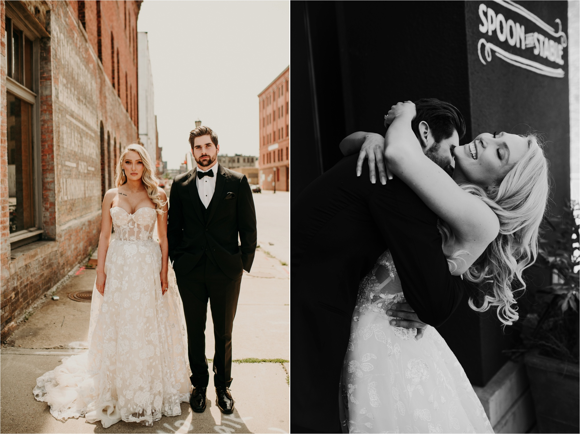 north loop wedding photos bride and groom
