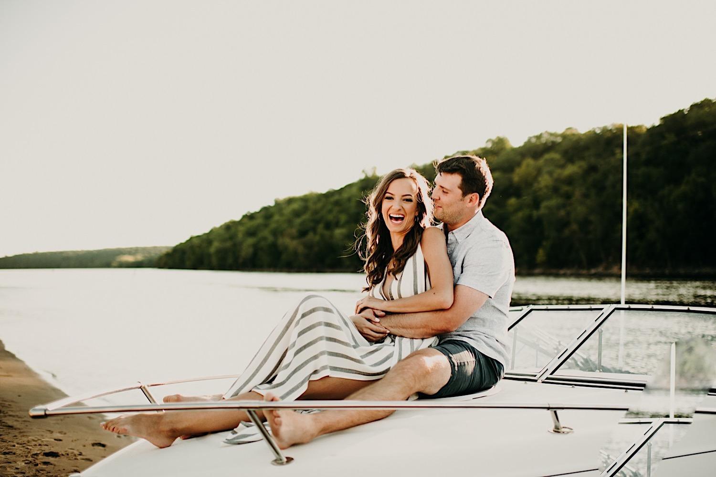 minnesota boat engagement session