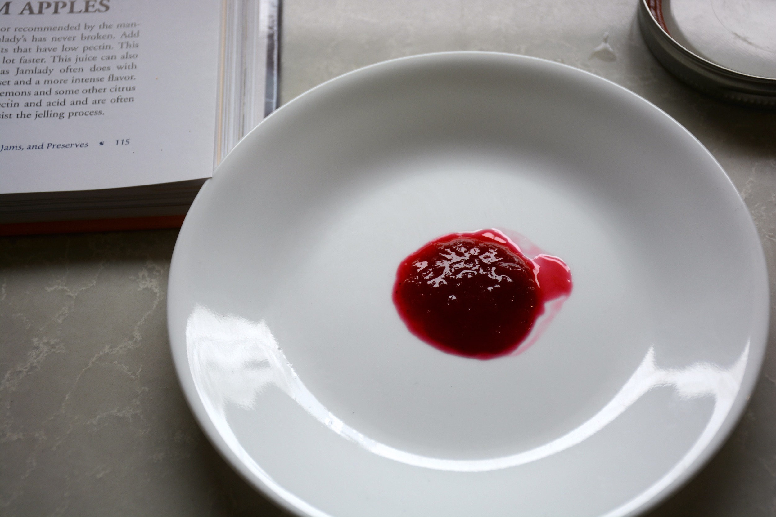 Raspberry Jam formed a nice solid mass