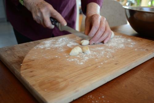 gnocchi ready to cut