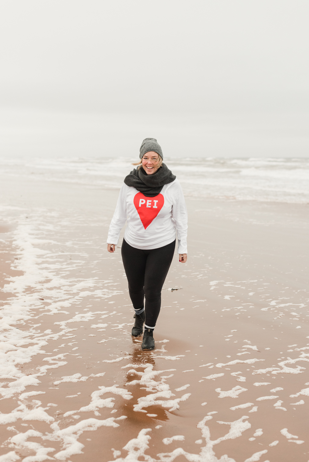 PEI Heart Sweatshirt - Prince Edward Island - Brackley Beach - Rachel Peters - November 2018 - The Girl From Away.jpg