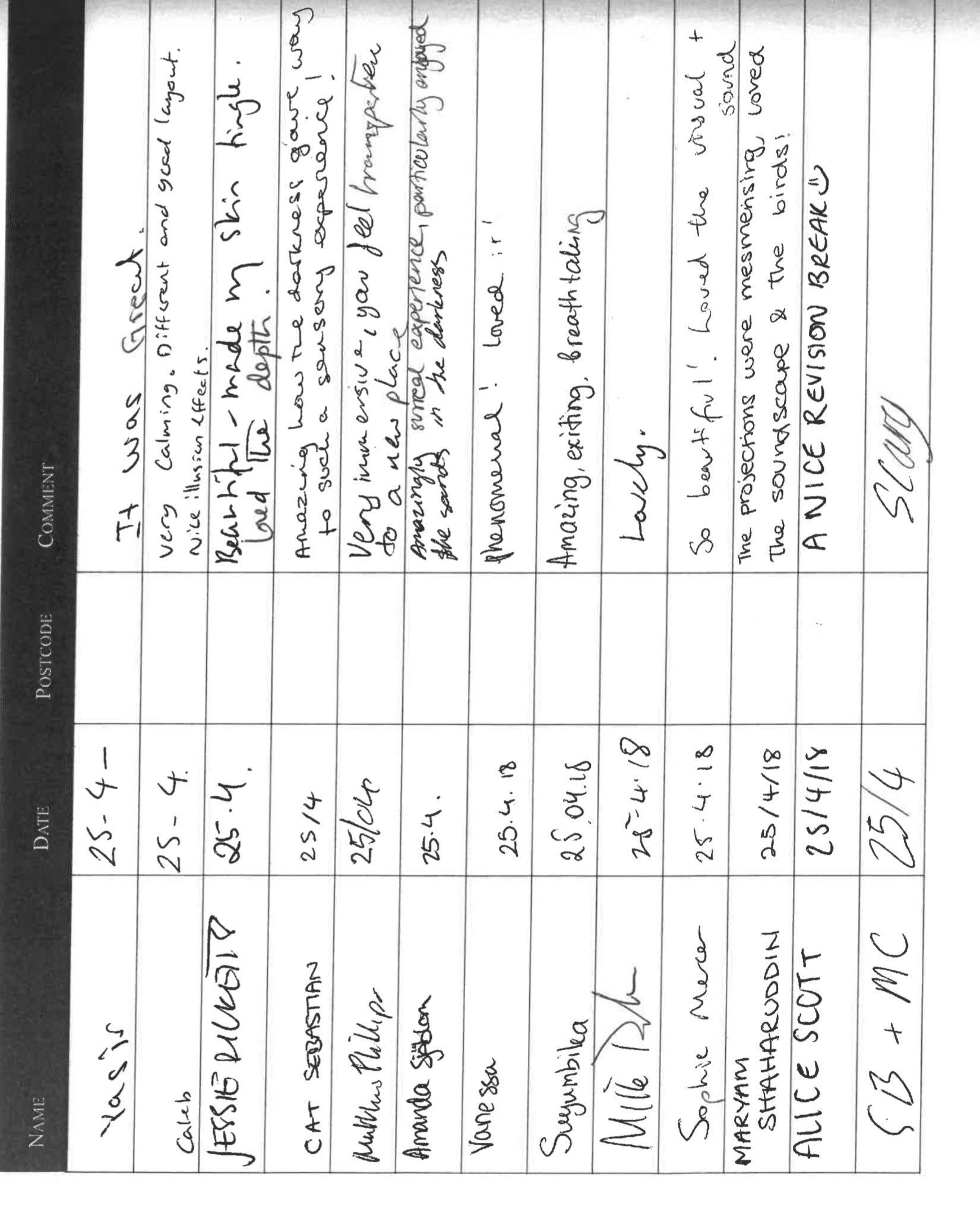 Visitor Book -