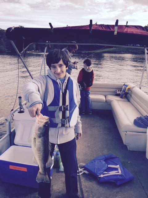 Here is Alex with a nice 4 1/2 pound largemouth.