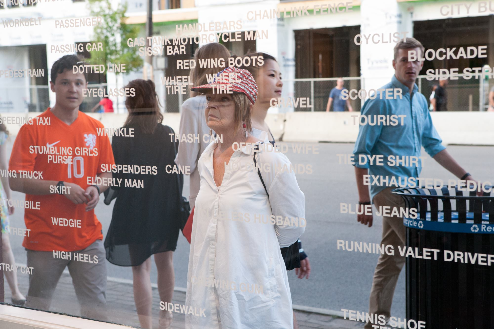 Looking Out   Installation view, 2014 Vinyl on window Roy G Biv Gallery, Columbus, Ohio
