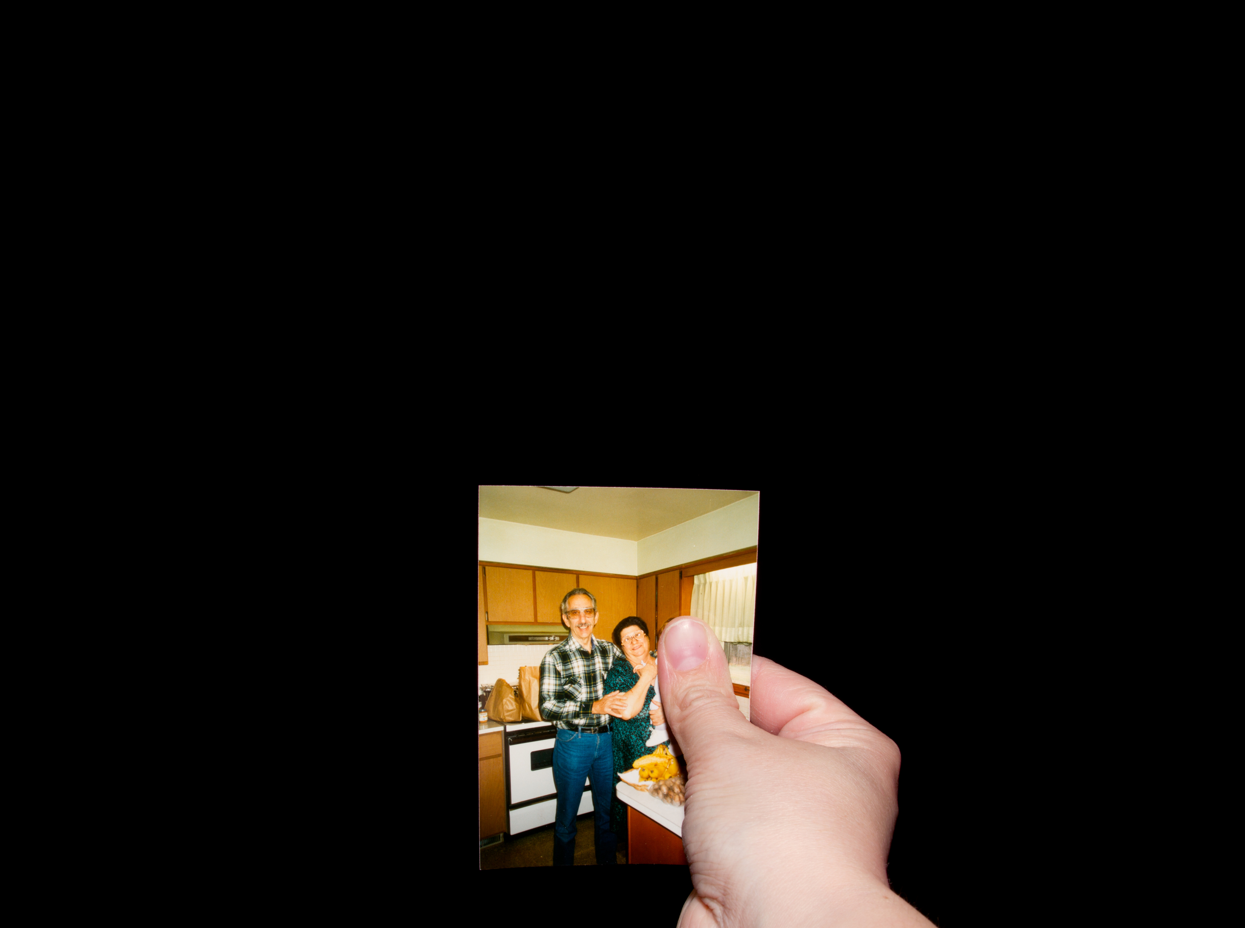 In The Kitchen With Grandma June And Grandpa Mike    from the series Here Without Me , 2013 Archival Inkjet Print 30 in x 22 in