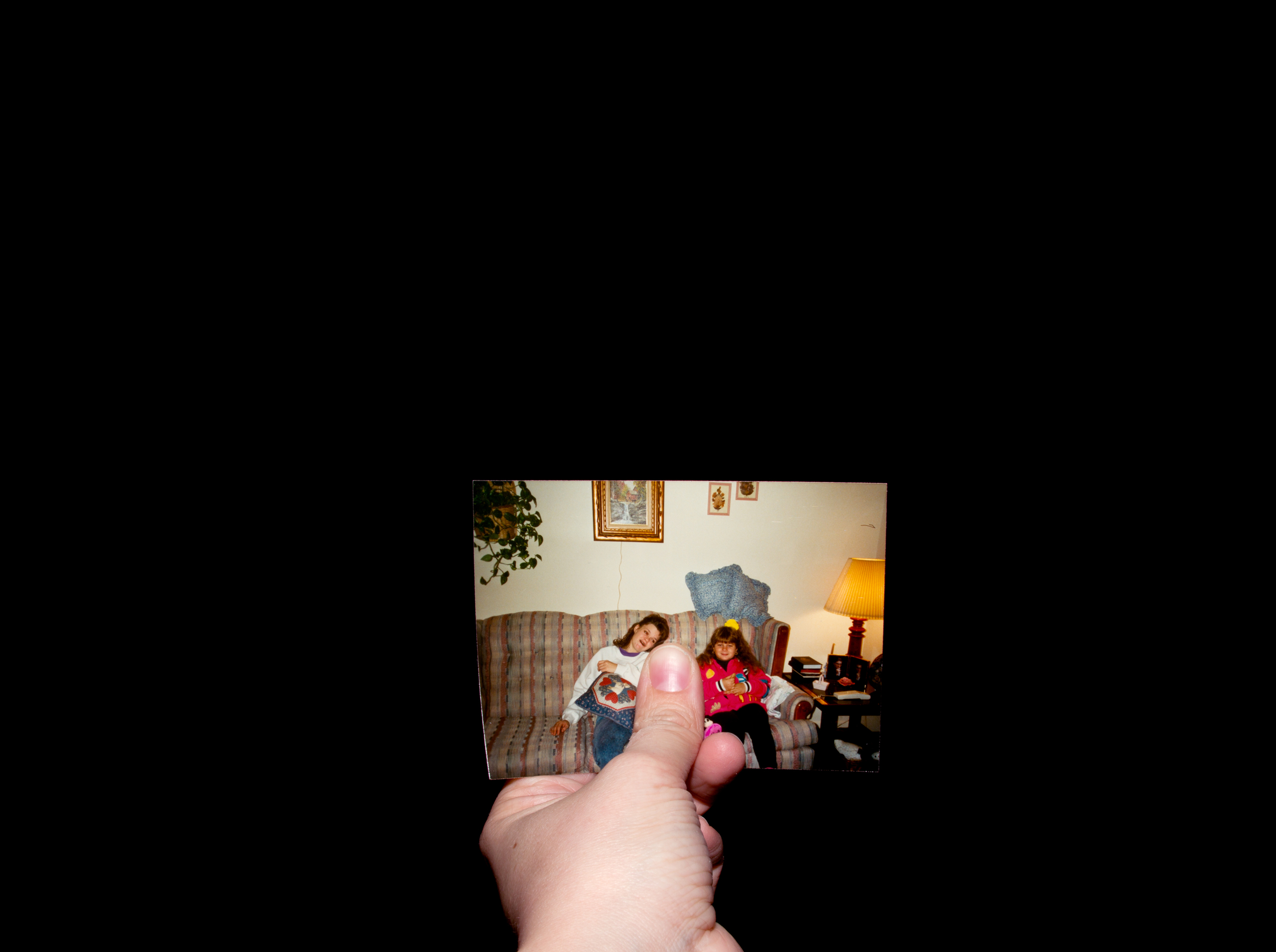 On The Couch With Effie And Star    from the series Here Without Me , 2013 Archival Inkjet Print 30 in x 22 in
