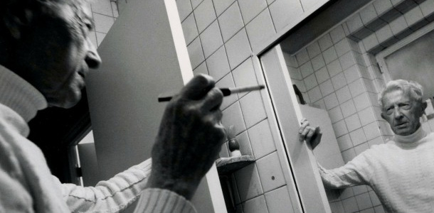 Paul Bowles at his apartment / Photo by Cherie Nutting