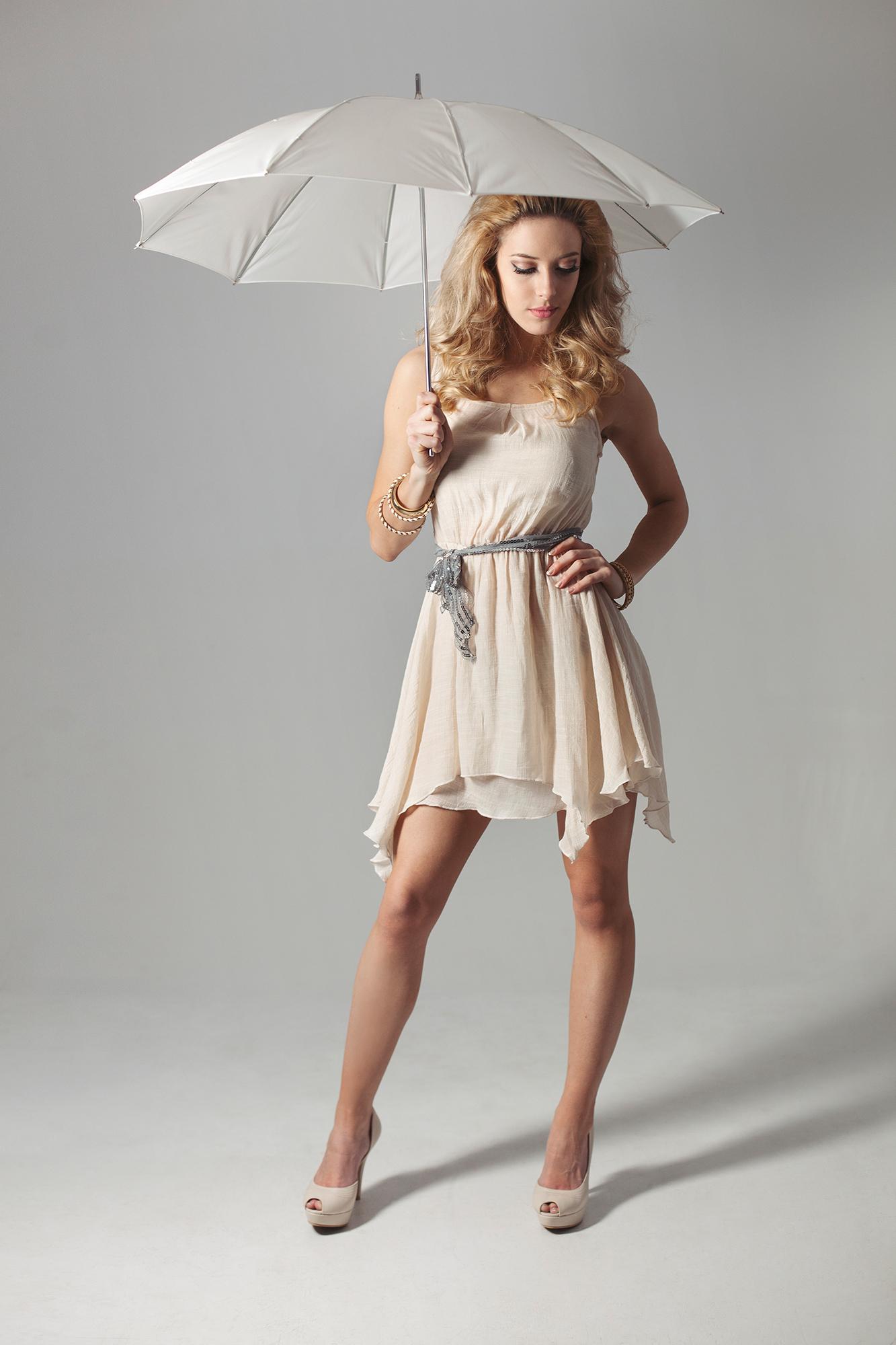 Model with an umbrella - Fashion