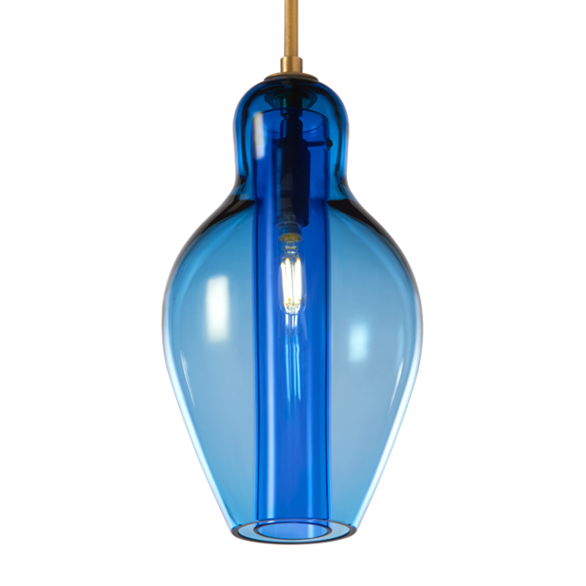Cloche Insert Pendant in Steel Blue.