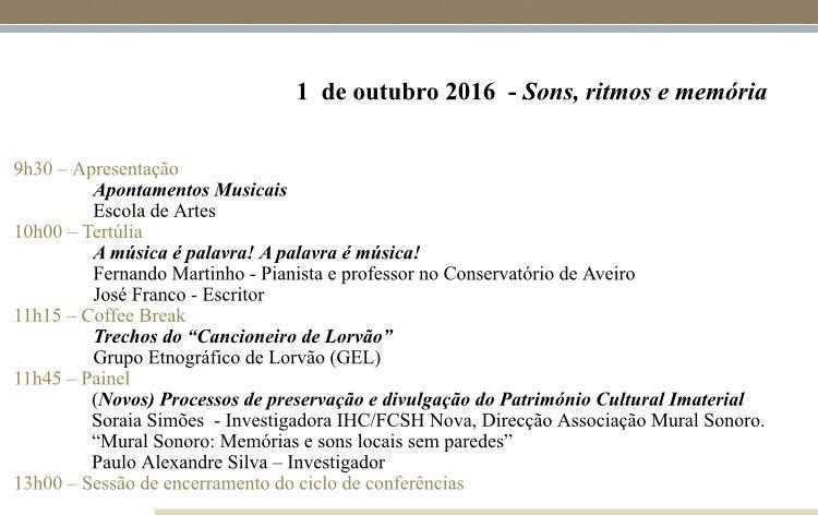 Sessão 1 de Outubro de 2016