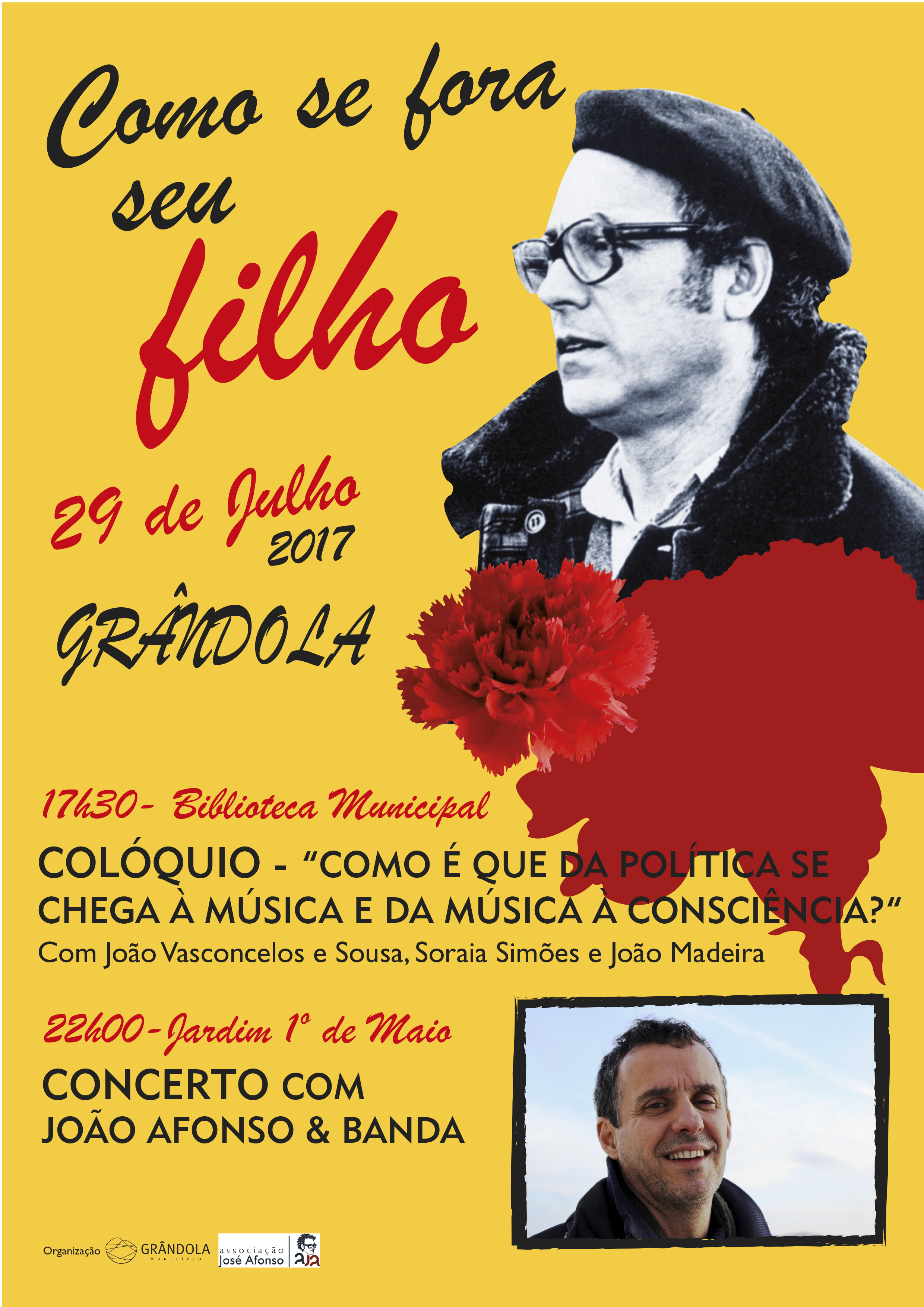 cartaz de Associação José Afonso (AJA)