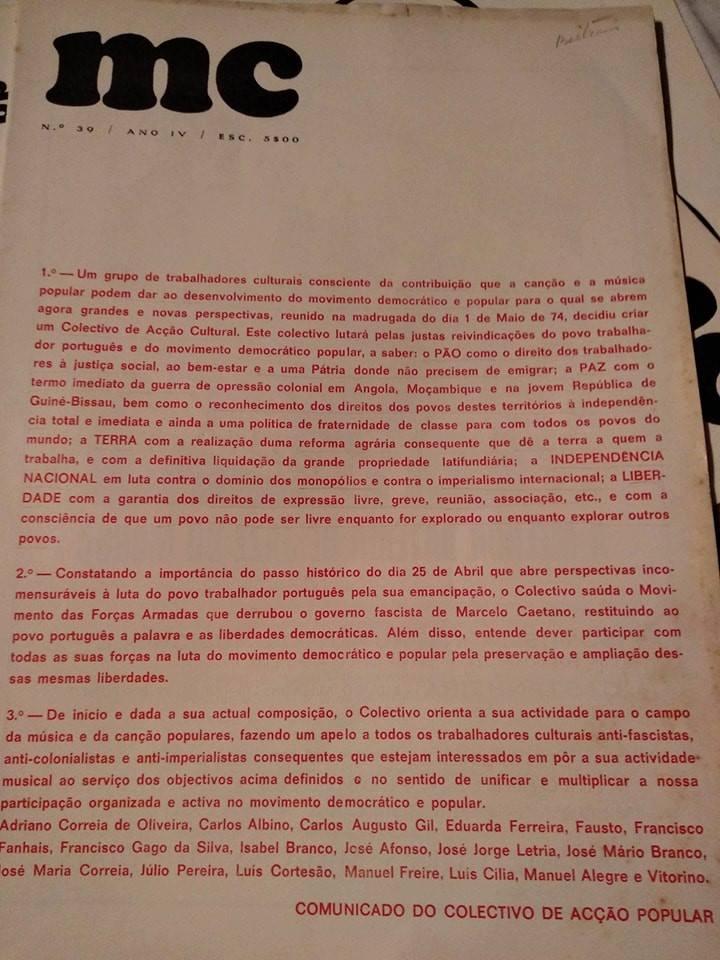 Número 39: cedido por Avelino Tavares durante o trabalho de pesquisa