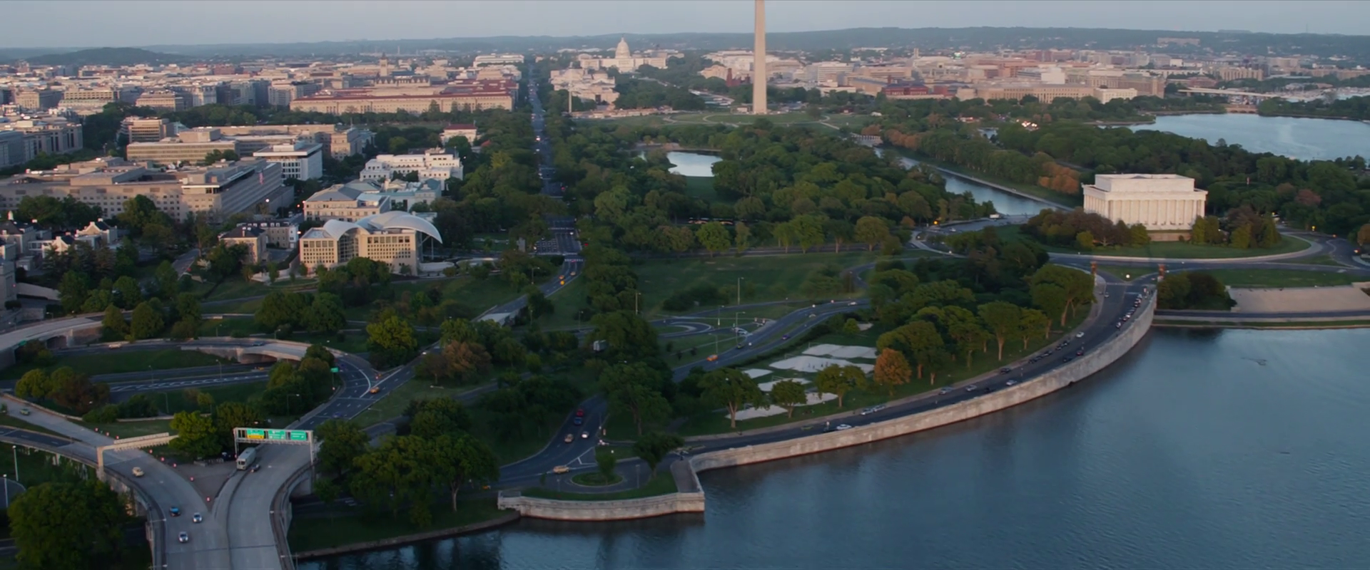Captain America: Winter Soldier  (2014), east view from the Triskelion.