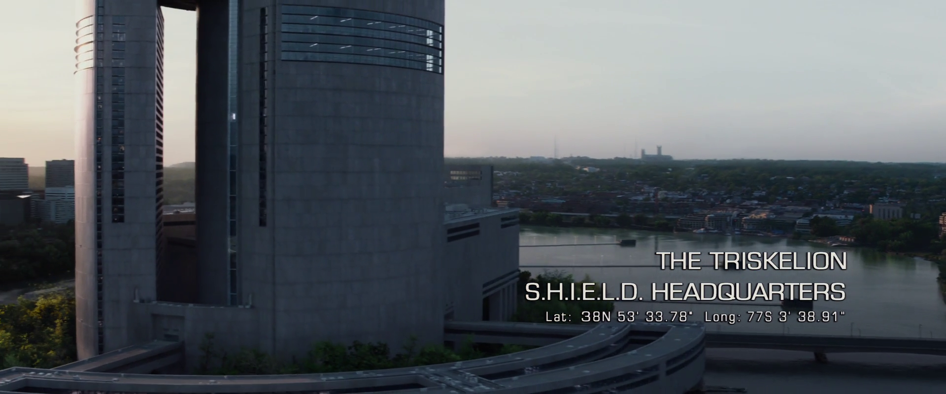 Captain America: Winter Soldier  (2014), Triskelion location specified (by faulty coordinates)
